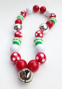 Jingle Bell Chunky Necklace, Gumball necklace, Girls Christmas necklace on Etsy, $14.00