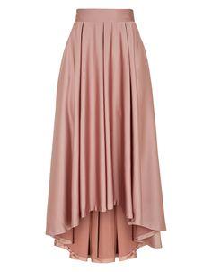 Rose Hi Lo Skirt - Silk - High Low Dipped Hem - Dusky Rose - Beautiful!
