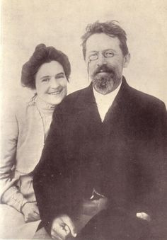 Anton Chekhov and his wife Olga Knipper, 1901.