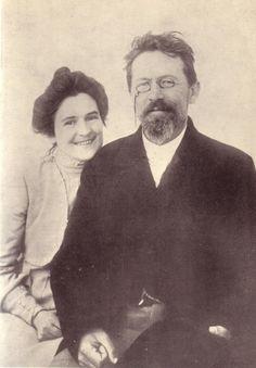 Anton Chekhov and his wife Olga Knipper, 1901.