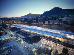 kadawittfeldarchitektur complete salzburg central station austria - designboom   architecture