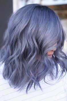 Smokey Pastel Denim pastelhair bluehair ❤️ Pastel hair colors speak not only about the rebellion within you but also about the way you accept the world. The brighter is the better, right? Hair Color 2017, Ombre Hair Color, Cool Hair Color, Unique Hair Color, Blur Hair, Pretty Hairstyles, Hairstyles Haircuts, Saree Hairstyles, Simple Hairstyles
