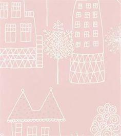 Kaspar wallpaper - pink - Sandberg Tyg & Tapet
