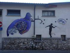 Collage - Montpellier - quartier des Beaux-Arts. SUNRA & OUPS.