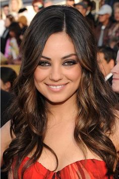 hair color ideas for brunettes | 35 Brilliant Dark Brown Hair With Highlights - SloDive