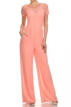 Short Sleeve Full Length Wide Leg Jumpsuit (FREE SHIPPING)