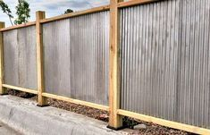 Corrugated Metal Fencing Design Inspiration For Residential Commercial And Agricultural Fences Agricu In 2020 Corrugated Metal Fence Fence Design Metal Fence Panels
