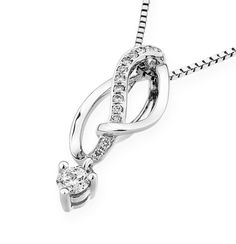 The elegance of feminity, be fashionable in this dazzling 18K white gold pendant setting diamond. https://www.noblag.com/us/18k-white-gold-diamond-pendant-necklace-dangling-infinity-silver-chain-0-15ct-g-h-color-si1-si2-clarity.html #pendantnecklace #whitegold #womenfinejewelry