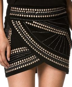 Another great find on #zulily! Black Studded Tulip Skirt #zulilyfinds
