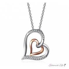 Anhänger Infinity Hearts Herzen mit Zirkonien mit...