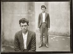 great mugshot from the 1930's... look at the clarity from the large format camera, nothing can compare