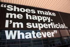 Shoes make me happy