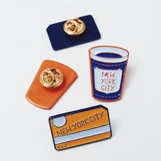 #Repost @amber_vittoria  Coffee in one hand metrocard in the other.  NYC pin set $10 - link in bio     (Posted by https://bbllowwnn.com/) Tap the photo for purchase info. Follow @bbllowwnn on Instagram for more great pins!
