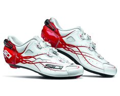SIDI SHOT Carbon Road Cycling Shoes - White/Red [Size: 40~47 EUR] #SIDI #Racing