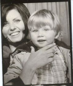Sixties mod mother with son. #vintage #photobooth #1960s