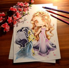 Hades and Persephone by Lighane.deviantart.com  Chibi version.