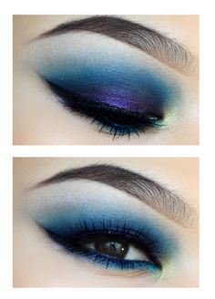 Bright blue smokey eye makeup #vibrant #smokey #bold #eye #makeup #eyes
