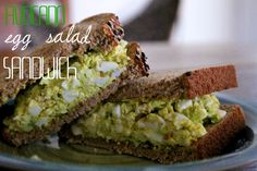avocado egg salad sandwich... delicious and healthier than the traditional recipe