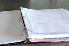 My blog notebook:  a simply way to create a blog planner!