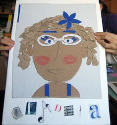workshop on portraits with children in elementary (It's in Italian, make sure to use the translate feature in Google Chrome), but I think the pictures speak for themselves.