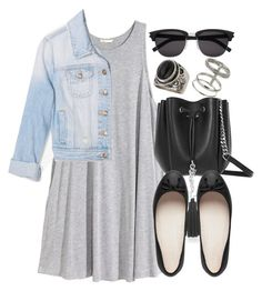 """""""Style #8855"""" by vany-alvarado ❤ liked on Polyvore featuring Topshop, H&M, Forever 21 and Yves Saint Laurent"""