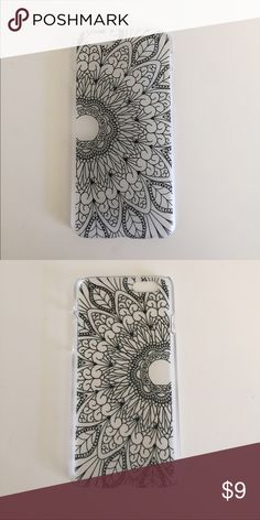 iPhone 6 Mandala Case Gorgeous hard plastic case with a hand drawn/henna style mandala. Thin plastic, not meant to protect your phone too much but adds a bohemian vibe to your phone. Accessories Phone Cases