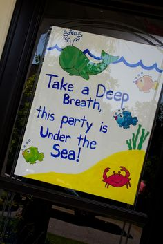 The Bryant Buzz: Rutledge's First Birthday Party -- Under the Sea