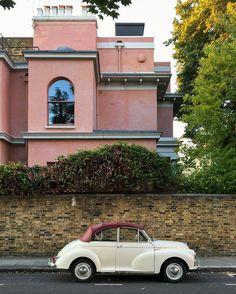 Vintage car in Kensington, London