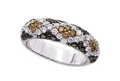 AA5441 - Tricolor Diamond Ring - Dilamani. Interesting, although I could never wear it---reminds me too much of snake skin. Ew.