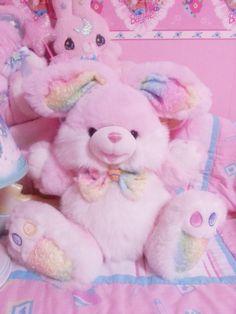 Pink Plush Bunny ღ¸. Kawaii Plush, Kawaii Cute, Cute Pink, Pretty In Pink, Kawaii Bedroom, Baby Pink Aesthetic, Cute Stuffed Animals, Everything Pink, Cute Toys