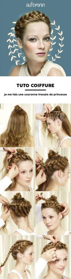Envie d'une coiffure facile à faire si vous avez les cheveux longs ? Adoptez la couronne tressée. Une coiffure chic et romantique parfaite au quotidien ou pour une grande occasion.