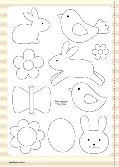 Free templates from your april issue papercraft inspirations easter clipart ideas Applique Templates, Applique Patterns, Applique Designs, Easter Templates, Bird Template, Ornament Template, Easter Crafts, Felt Crafts, Crafts For Kids