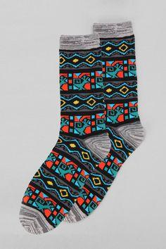 Geo Pattern Sock #urbanoutfitters