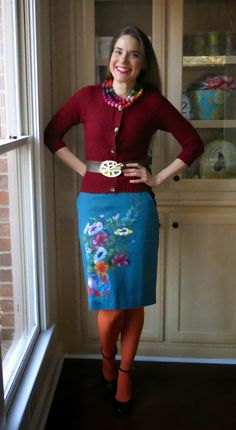 Cassie Stephens: What the Art Teacher Wore #132, Giveaway Winner and a Sewing Swap!