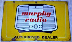 Authorized Dealer sign for Murphy Radio displaying a vintage radio in the background.