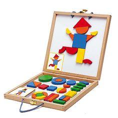 Djeco koffer met geometrische vormen