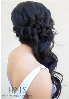 Pretty braided down do