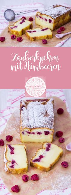 Zauberkuchen mit Himbeeren – Rezept Recipe for a magic cake with raspberries. This cake turns a dough and raspberries into a delicious cake with three different layers! Raspberry Recipes, Ice Cream Recipes, Homemade Frappuccino, Easy Smoothie Recipes, Healthy Recipes, Pumpkin Spice Cupcakes, Food Cakes, Fall Desserts, Yummy Cakes