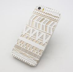"milkyway - Clear Plastic Case Cover for iPhone 6 (4.7"") Henna Itzli Mayan Aztec t"