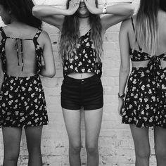 blackandwhite, dress, flower, friends, funny, girl, summer, yolo