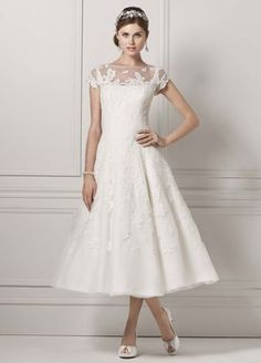 Wedding gown by Oleg Cassini at David's Bridal Davids Bridal Dresses, Bridal Gowns, Wedding Gowns, Bridesmaid Dresses, Lace Wedding, Weding Dresses, Autumn Wedding, Blue Dresses, Wedding Dresses Photos