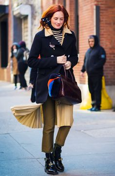 How to Dress For Work When It Feels Too Cold to Leave the House via @WhoWhatWearUK