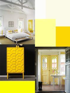 Steeds vaker zie ik geel terug in mijn omgeving.