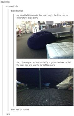What happens if someone sits on the beanbag?