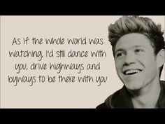 Niall Horan - This Town (lyrics) - YouTube