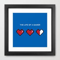 """""""The Life of a Gamer"""" Framed Art Print"""