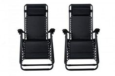 Zero Gravity Chairs Case Of 2 Black Lounge Patio Chairs Outdoor Yard Beach -- You can get more details by clicking on the image. (This is an affiliate link) 0