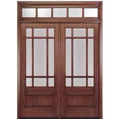 Shop For MAI Doors HTC700 2 TB Divided Lite Entry Door Mahogany Square