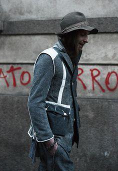Stephen Mann in his TheSoloIst. x Engineered Garments jacket