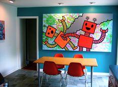 39 ideas brillantes y coloridas para su comedor por Digs Digs